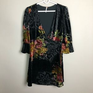 Free People velvet floral dress